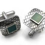 silver and resin cufflinks hqc005